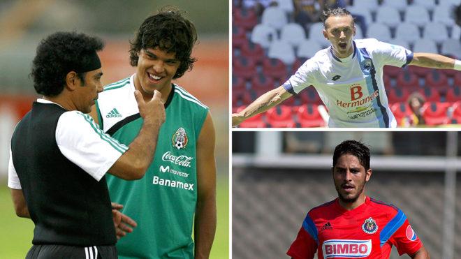 Luis Ángel Landín con Hugo Sánchez; Omar Arellano; y Edgar Solis.