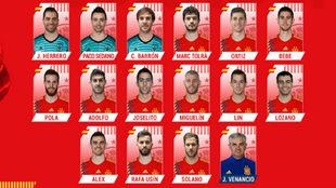 Los 23 elegidos por parte de José Venancio López