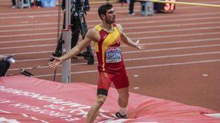 Jorge Ureña, durante el campeonato de Europa de pista cubierta en...
