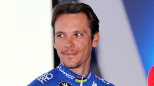 Philippe Gilbert, la semana pasada en Calpe.