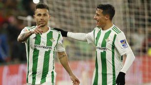 Rubén Castro celebra el gol del triunfo en su vuelta al Villamarín