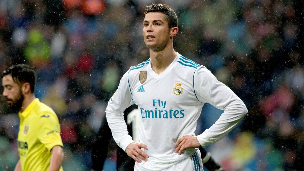 Cristiano durante el partido ante el Villarreal