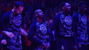 Los jugadores de los Rockets homenajean a Martin Luther King