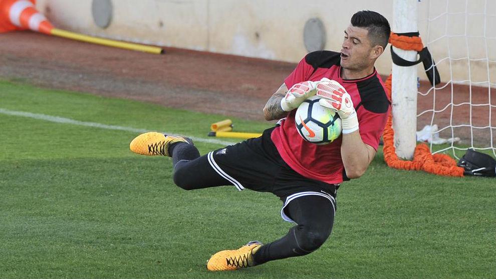 Carvajal, durante un entrenamiento.