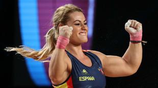 Lydia Valentín, durante los pasados Mundiales de Anaheim.