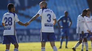 Ángel celebra su gol con Raí.