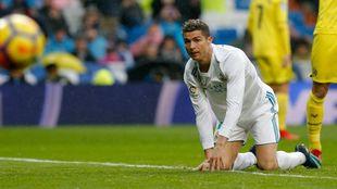 Cristiano Ronaldo durante el partido del Villarreal