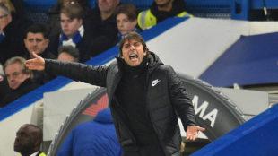 Conte, en uno de los partidos del Chelsea.