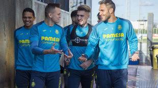 Bacca, Cheryshev, Castillejo y Víctor Ruiz, tras una sesión del...