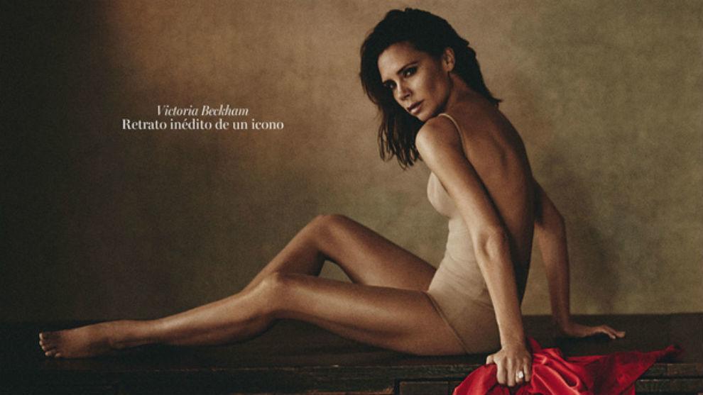 El Inesperado Posado De Victoria Beckham En La Portada De Vogue