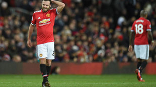 Juan Mata durante uno de sus partidos con el Manchester United
