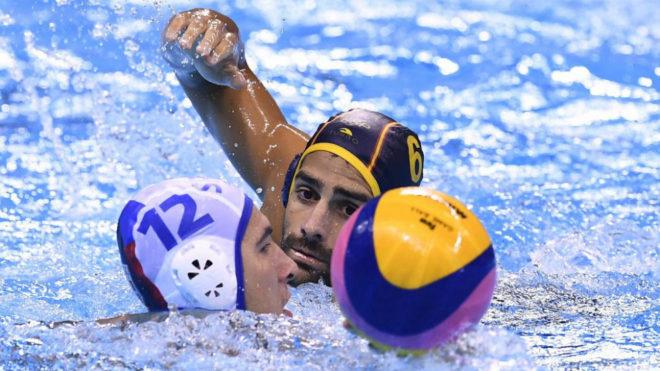 Marc Minguell en un partido frente a Serbia en los Juegos de Río.