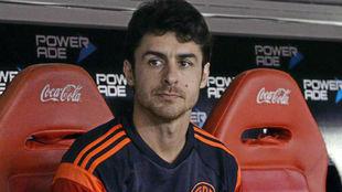 Pablo Aimar en un momento en el banquillo de River Plate