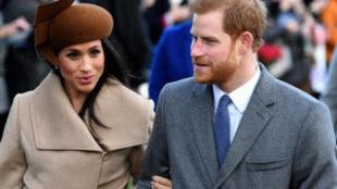 El príncipe Enrique y su prometida, la actriz Meghan Markle