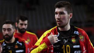 Alex Dujshebaev, a la conclusión del partido de los...