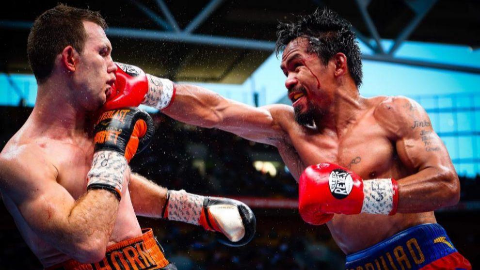 Manny Pacquiao golpea a su último rival, Jeff Horn
