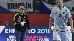 Jordi Ribera, durante el partido contra la República Checa