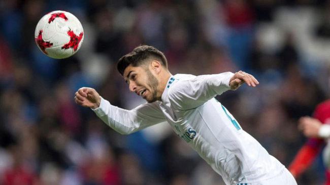 Asensio, durante el partido de Copa ante el Numancia