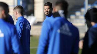 Vinícius, en un entrenamiento en la Ciudad deportiva.