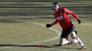 Filipe Luis, en un entrenamiento.
