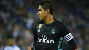 Varane, capitán, ante el Leganés.