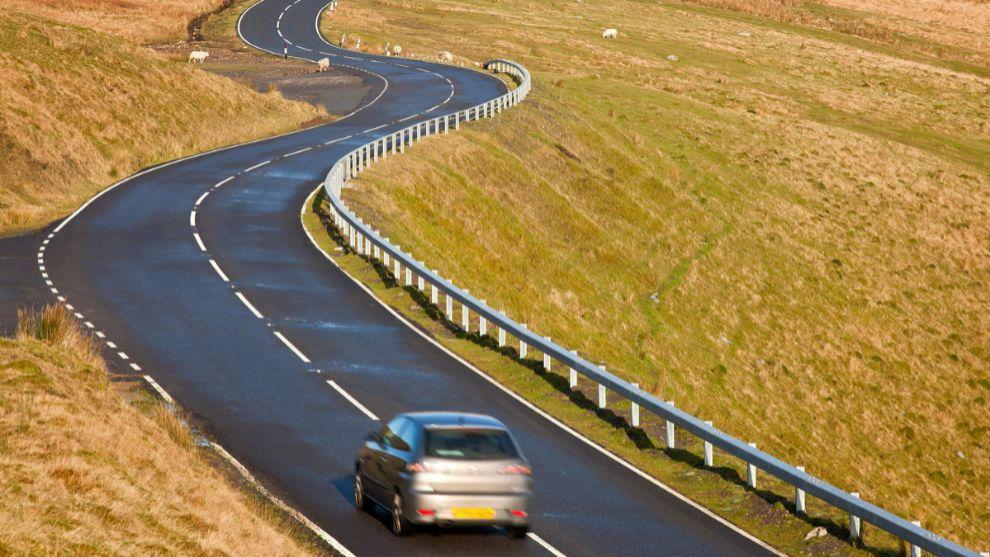 La A 4069, conocida como 'la carretera de Top Gear'