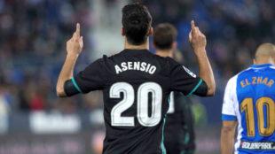 Asensio, tras marcar el gol del triunfo ante el Leganés.