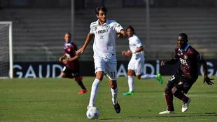 Edoardo Soleri, durante un partido con el Spezia italiano