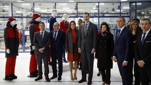 Los Reyes, en la fábrica de Joma.