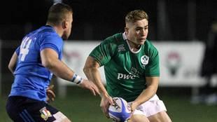 El joven Jordan Larmour, con la selección juvenil de Irlanda