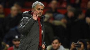 Mourinho, con el United.