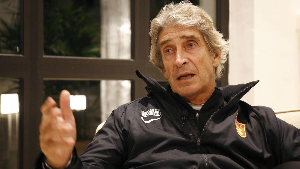 Pellegrini, en un momento de la entrevista en Marbella.