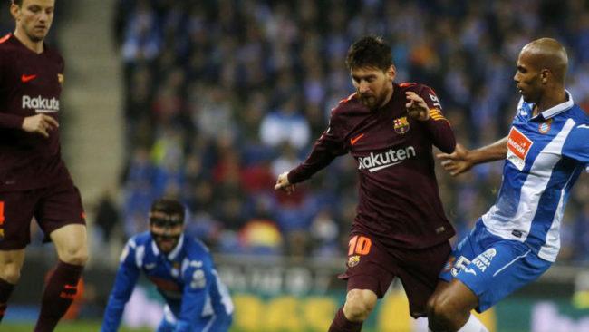 Partido de la Copa del Rey entre el FC Barcelona y el Espanyol