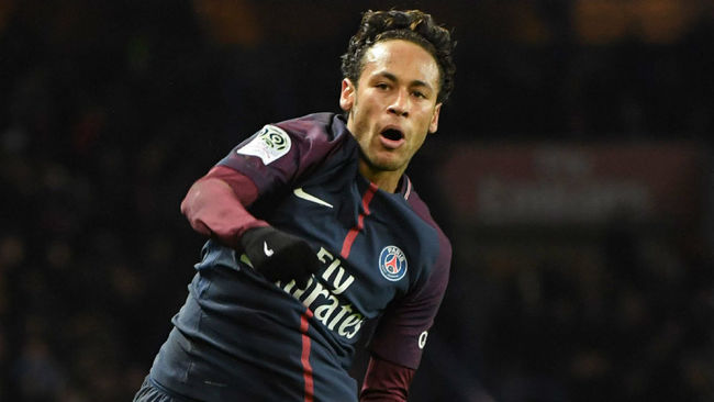 Neymar, en el partido ante el Dijon.