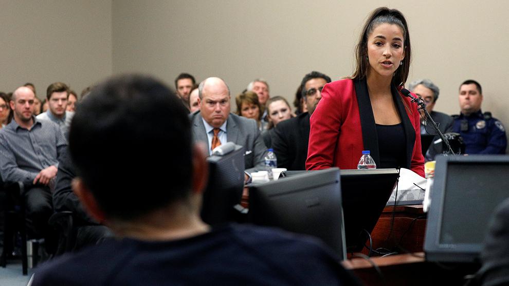 Aly Raisman durante su testimonio el viernes.