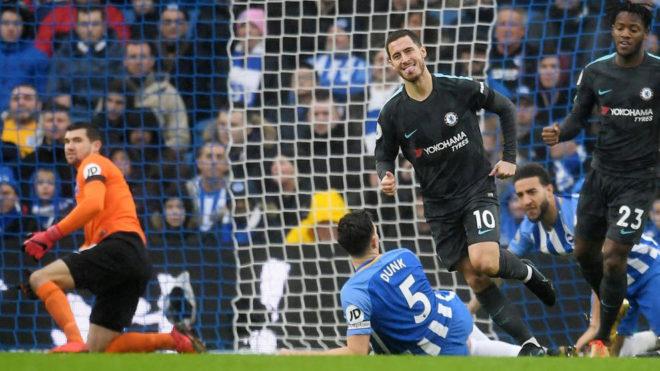 Premier League: Hazardul este expus în Brighton și pune capăt cursei proaste a lui Chelsea