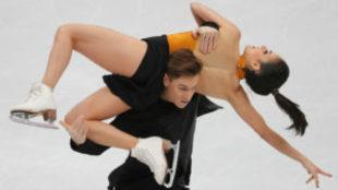 Sara Hurtado y Kirill Khaliavin, durante el programa corto en danza.