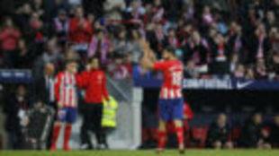 Diego Costa, en el momento del cambio.
