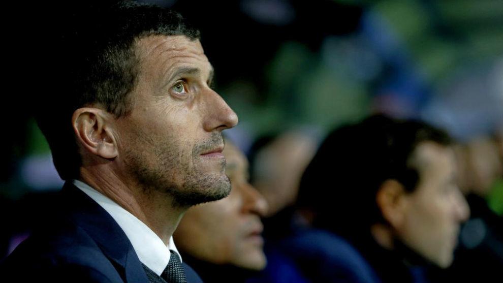 Javi Gracia en su etapa como entrenador del Málaga.