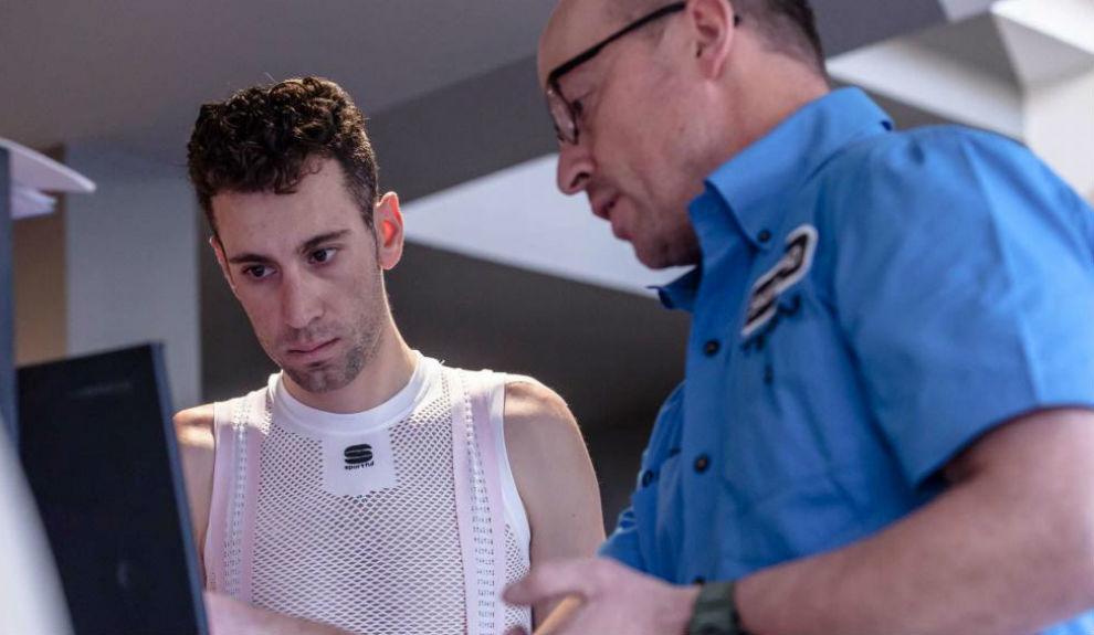 Vincenzo Nibali, durante la concentración de su equipo en Croacia.
