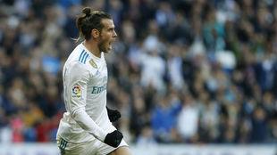 Bale celebra una de su goles al Deportivo.