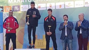 Podio del medio maratón de Castellón.