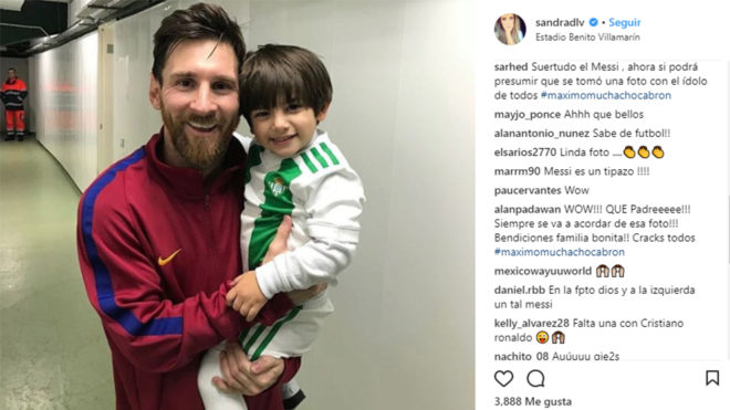 Messi con Máximo
