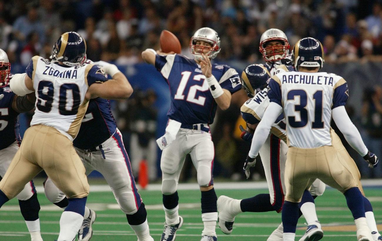 Resultado de imagen para tom brady Super Bowl XXXVI