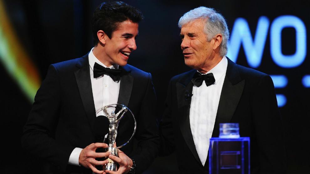 Márquez y Agostini en los premios Laureus.