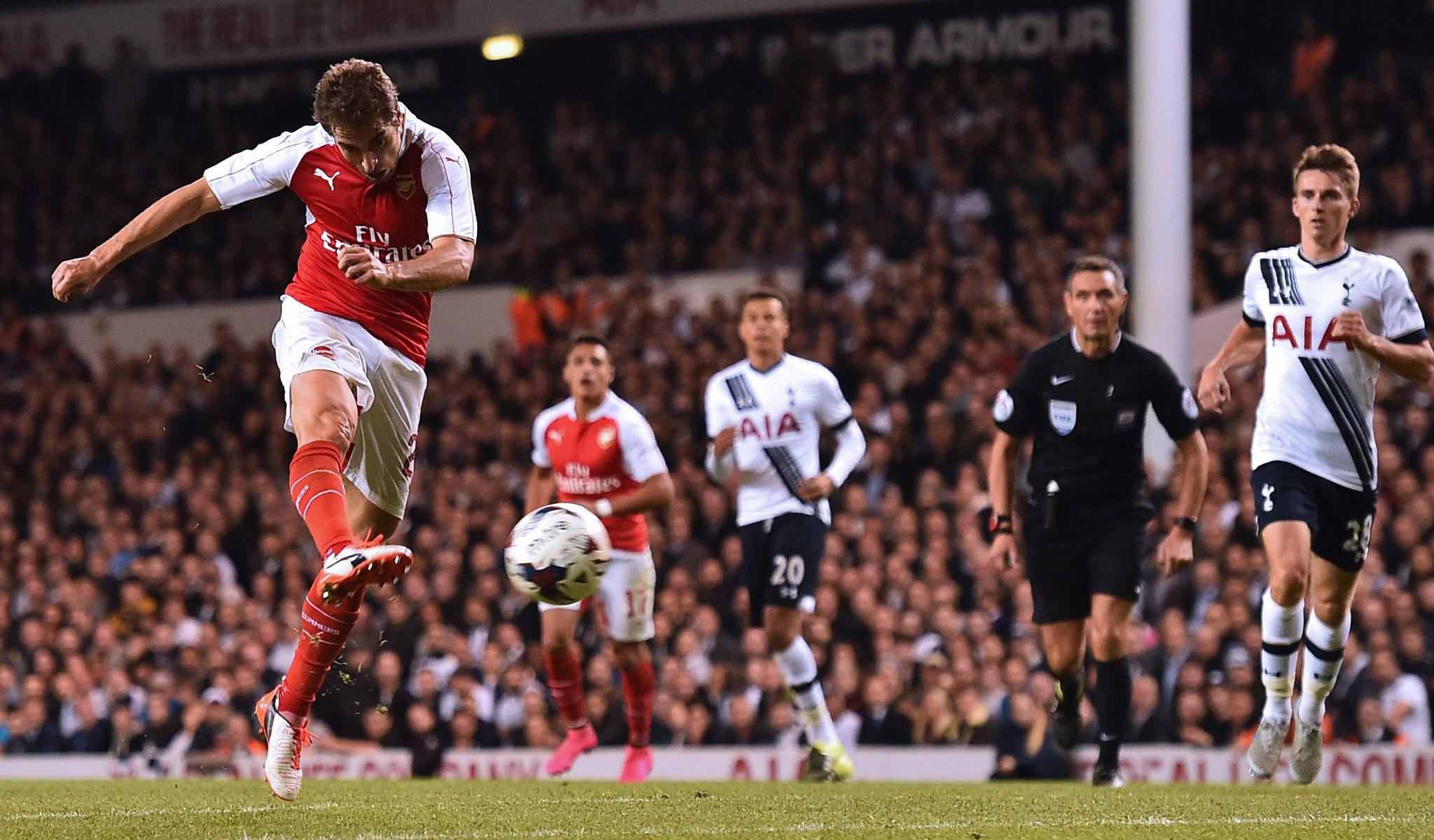 Flamini durante su temporada en el Arsenal