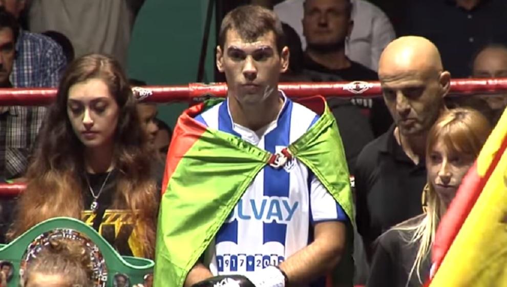 Sergio García, en su último combate en Torrelavega