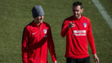 Simeone works alone with a group of 13 players