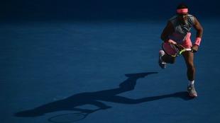 Nadal, en un momento de un partido anterior en el Open de Australia.
