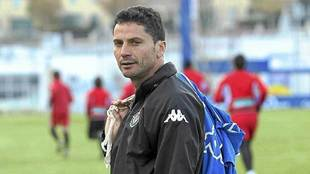 Torres Gómez, hace años en un entrenamiento del Real Valladolid